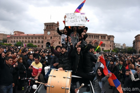 Marchas contra el gobierno en Yerevan. Piden renuncia del primer ministro.