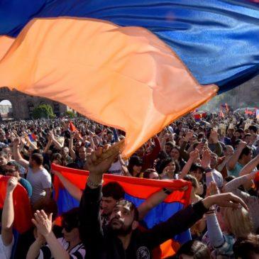 Hoy 27 abril las manifestaciones se centran en Gyumri.