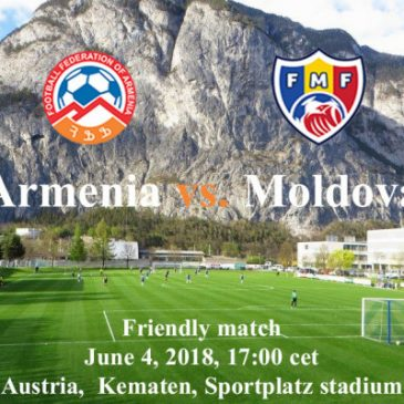 Partido amistoso Armenia-Maldovia.