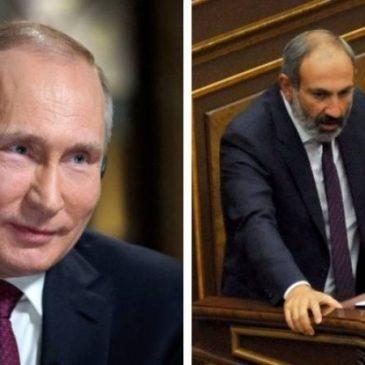 Putin  felicitó a Nikol Pashinyan por asumir el cargo de primer ministro de Armenia.