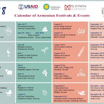 Calendario 2018 de festivales y eventos en Armenia.