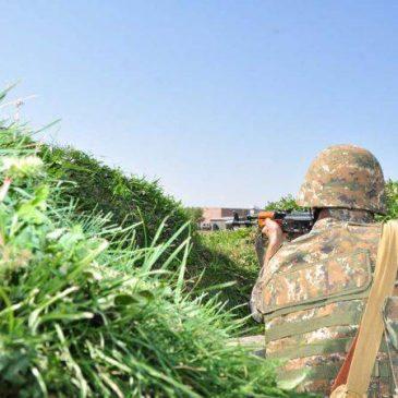 La situación se mantuvo relativamente estable en la línea de contacto Artsakh-Azerbaiyán esta semana.