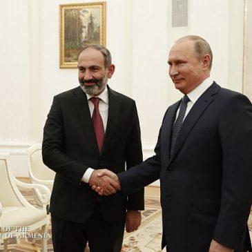 Putin enfatiza la importancia del aumento del volumen comercial con Armenia