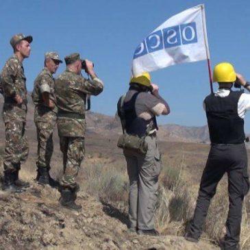 La OSCE llevó a cabo un inspección en la frontera de Artsaj-Azerbaiyán