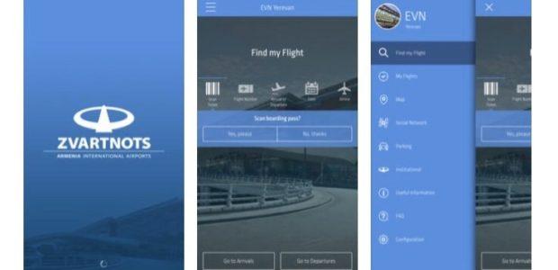 El aeropuerto Zvartnots de Armenia presenta una nueva aplicación móvil