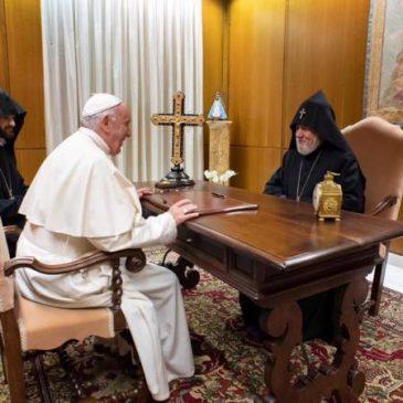Khatolikos Karekin II y el Papa Francisco se reunieron en el Vaticano