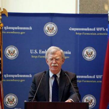 Las relaciones armenio-estadounidenses son de importancia estratégica para los Estados Unidos – John Bolton