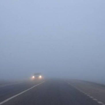 Se recomienda precaución en las rutas por nieblas y heladas.