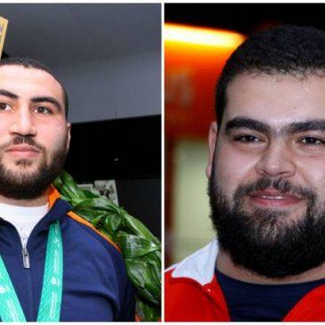 Pashinyan presenta una petición al presidente Sarkissian para otorgarle a los levantadores de pesas Simon Martirosyan y Gor Minasyan, Medella de Honor.