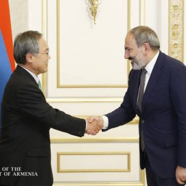 El primer ministro Nikol Pashinyan invita al presidente de Corea del Sur a visitar Armenia