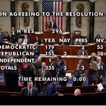 ULTIMO: la Cámara de Representantes de los Estados Unidos adoptó la resolución de reconocimiento del Genocidio Armenio