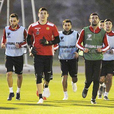 Clasificatorios para la Eurocopa 2020. La selección de Armenia comenzó su entrenamiento en su campo de Yereván