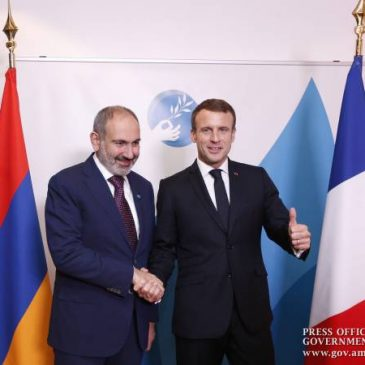 Pashinyan y Macron discuten la agenda de las relaciones armenio-francesas en París