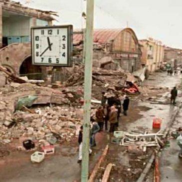 31 años del devastador terremoto en Spitak