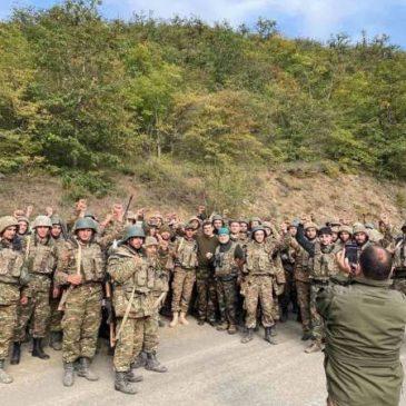 El presidente de Artsaj elogió el espíritu de lucha de los militares que lucharon contra el enemigo en Hadrut.