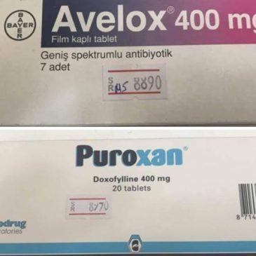 Las drogas Avelox y Puroxan de dudosa procedencia se venden en farmacias de Armenia ilegalmente.